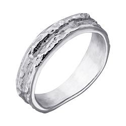 Серебряное кольцо Левкада с фактурной поверхностью