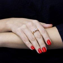 Кольцо в красном золоте Жюстин с фианитами