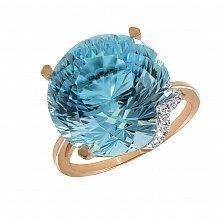 Кольцо из красного золота Камилла с топазом и бриллиантами