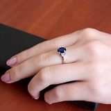 Серебряное кольцо Забвение с альпинитом и фианитами