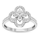 Серебряное кольцо Аврелия с фианитами