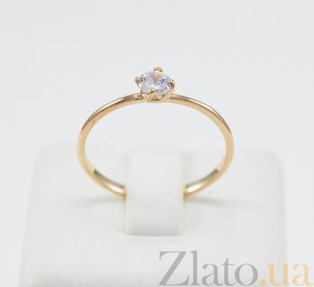 Золотое кольцо с фианитом Единственная VLN--212-1767