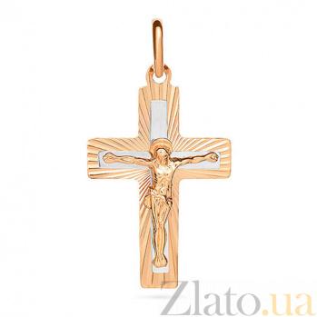 Золотой крестик Сияющий SUF--521123н