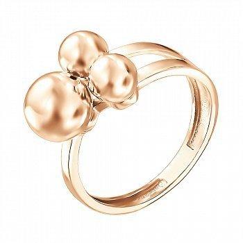Кольцо из красного золота Шарики 000140742