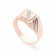 Золотой перстень-печатка Амьен