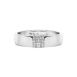 Кольцо из белого золота с сапфирами Благосклонная любовь