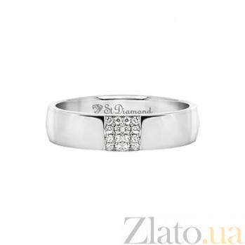 Кольцо из белого золота с сапфирами Благосклонная любовь 000029783