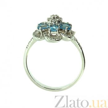 Кольцо в белом золоте с топазами и бриллиантами Кларетта ZMX--RT-6623w_K