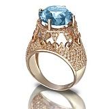 Золотое кольцо с топазом Гликерия