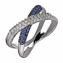 Золотое кольцо с сапфирами и бриллиантами Созвучие