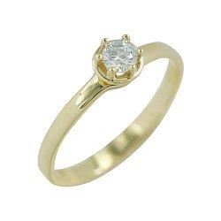 Золотое кольцо с кристаллом Swarovski Алоисия