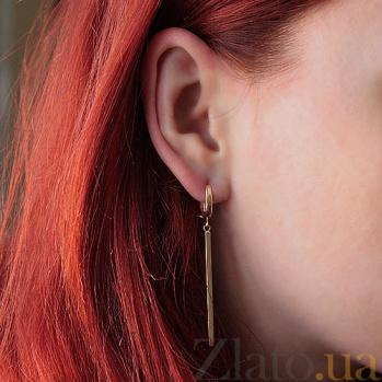 Серьги-подвески в красном золоте Велари 000023820