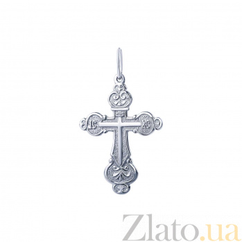 Серебряный крестик Богаз AQA--74033