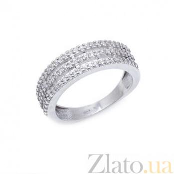 Серебряное кольцо Альвик с фианитами AQA--1733