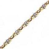 Золотая цепь в комбинированном цвете Посейдон