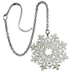 Серебряный ионизатор Снежинка с цепочкой 000043416
