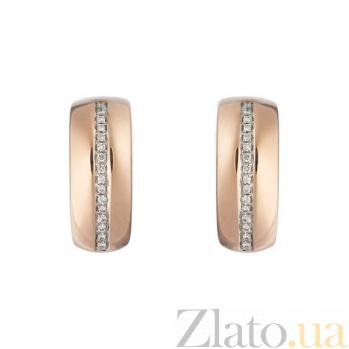 Золотые серьги с бриллиантами Милена 1С309-0024