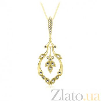 Золотой подвес с бриллиантами В объятиях рассвета 794