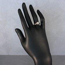 Золотое помолвочное кольцо Кэтлин с белым кристаллом Swarovski