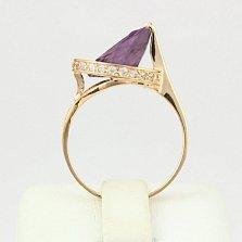 Золотое кольцо с александритом и фианитами Илэрия