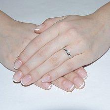 Кольцо из белого золота с бриллиантами Люксена