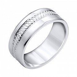 Обручальное кольцо из серебра 000102983