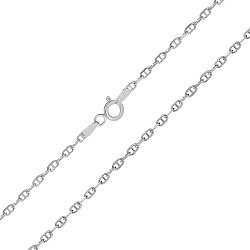 Серебряная цепь Перу с родированием