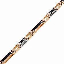 Золотая цепь Cartier с черной эмалью Аполлон