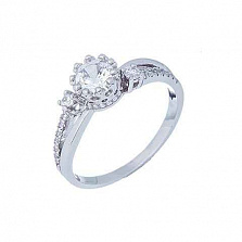 Кольцо на помолвку из серебра