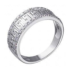 Серебряное кольцо с фианитами 000053474