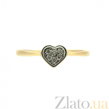 Кольцо из красного золота с бриллиантами Шарил 000021473