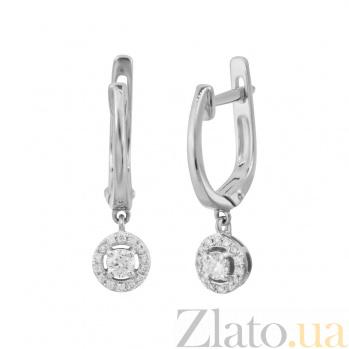 Золотые серьги с бриллиантами Счастливое сердце 000032331