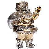 Серебряная статуэтка Санта Клаус