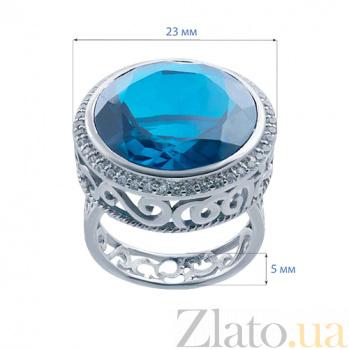 Серебряный перстень с голубым кварцем Атлантида AQA-R02445Qlb