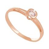 Золотое кольцо Счастье с цирконием