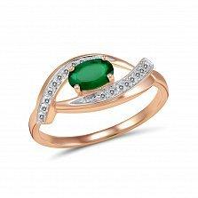 Кольцо Николь из золота с бриллиантами и изумрудом
