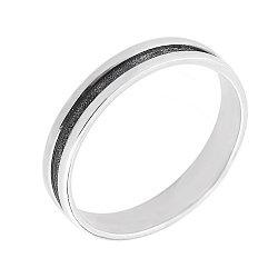 Серебряное кольцо Женева с чернением