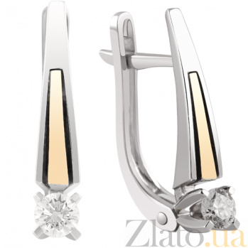 Золотые серьги с бриллиантами Маргарита KBL--С2465