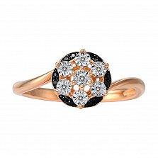 Кольцо Рада из красного золота с бриллиантами