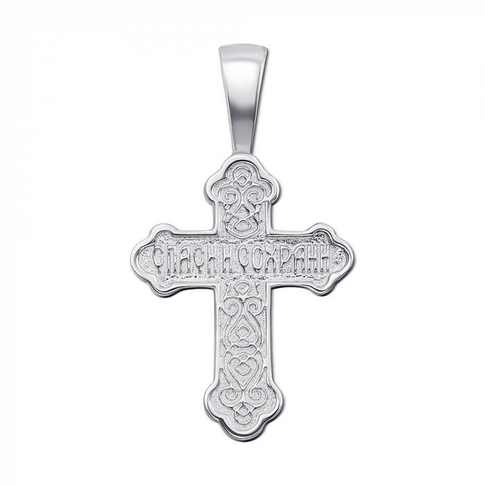 Серебряный православный крестик 000121519 000121519