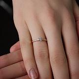 Кольцо из красного золота с бриллиантами Ami