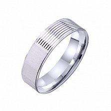 Золотое обручальное кольцо Грани любви