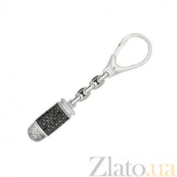 Брелок из белого золота Пуля для оружия с фианитами VLT--Т39901