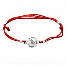 Шелковый браслет со вставкой Молитва