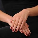Золотое кольцо Эмилия с бриллиантом