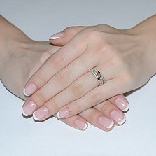 Золотое кольцо Арабелла с фианитами