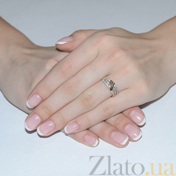 Золотое кольцо Арабелла с фианитами EDM--КД2028