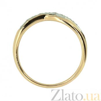 Золотое кольцо в красном цвете с бриллиантами Варна 000021388