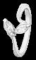 Кольцо из серебра с фианитами Лунный луч 000025714