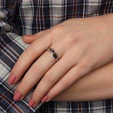Серебряное кольцо Анита с сапфиром